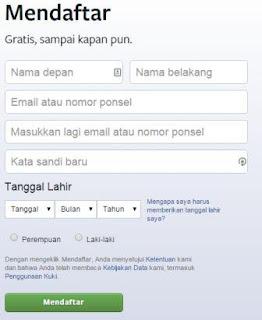 register facebook