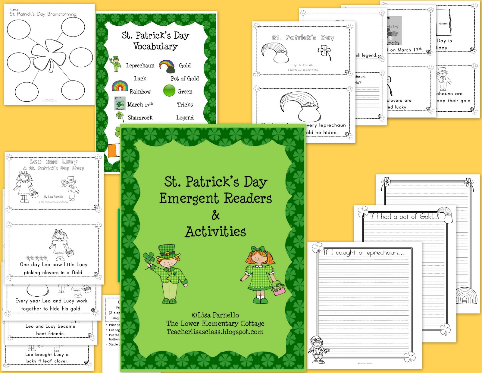 The lower elementary cottage st patrick s day readers and activities