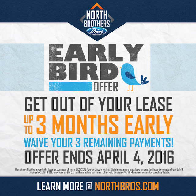 Early Bird Lease Turn-In Program at North Brothers Ford in Westland, MI