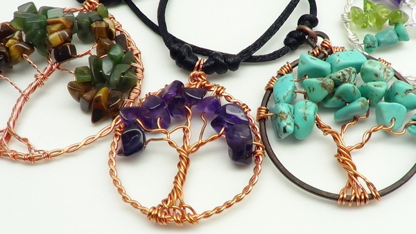 Beadcomber Jewelry Picasso Tree Of Life And Reiki Pendants