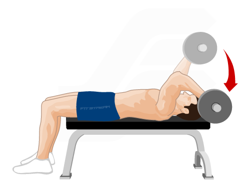 lying triceps dumbbell extension