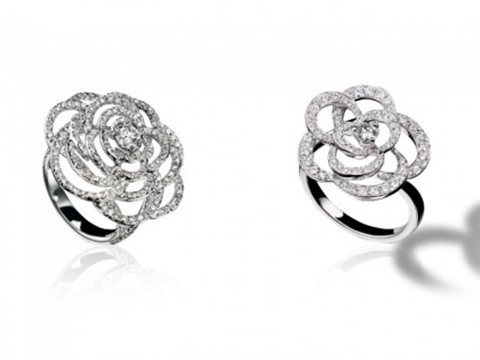 Chanel Rings: Camelia 18K White Gold