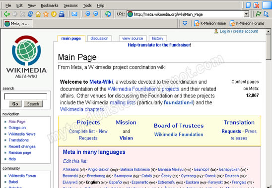 K-meleon web browser