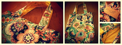Bolso estampado flores hecho a mano Hola Monamu