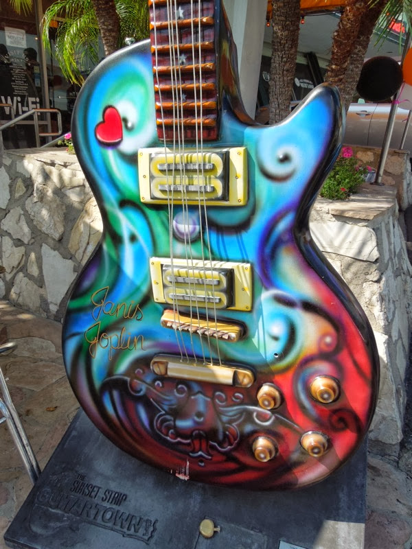 Janis Joplin tribute guitar sculpture