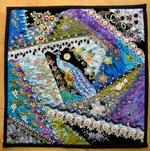 Crazy Quilting Stitches Patterns : Alcoholinky: Crazy Quilting