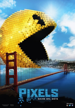 Poster Of Pixels 2015 English 300MB BRRip 480p Free Download Watch Online