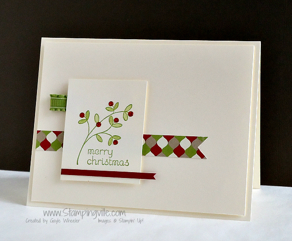 Stampin' Up! Easy Events Stamp Set Christmas Card