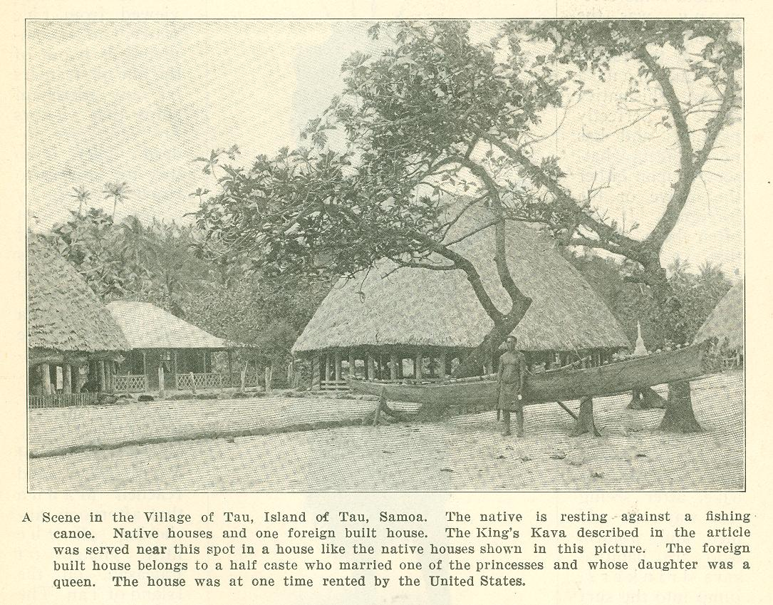 Early one morning we left the harbor of Pago Pago on the Island of Tutuila, and reached Manua that afternoon, anchoring off the little village of Faleasau, ...