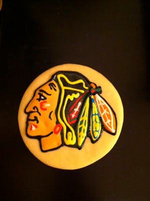 Blackhawks sugar cookie
