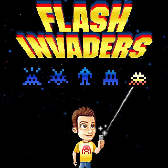 "After several months of development and beta-testing, Paris-based Invader just released his new iOS app entitled ""FlashInvaders""."