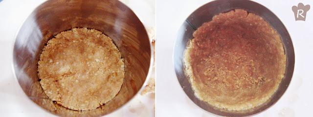 molde cubierto por las galletas