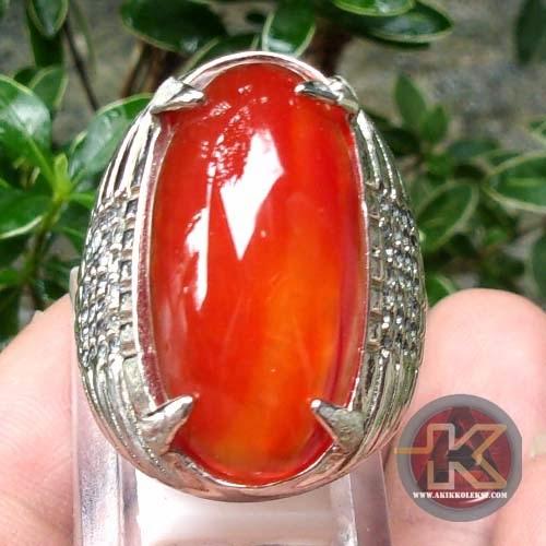 Cincin Batu Pandan Merah Batu Permata Asli Batu Mulia