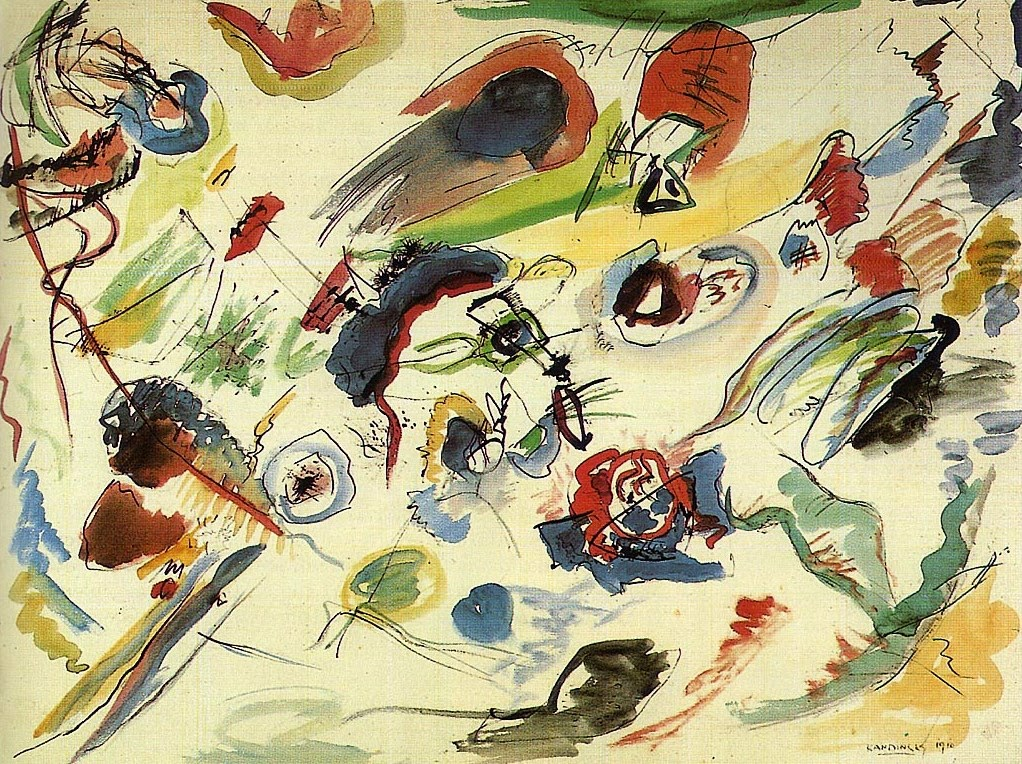 First Abstract Watercolour - Vasily Kandinsky, 1910