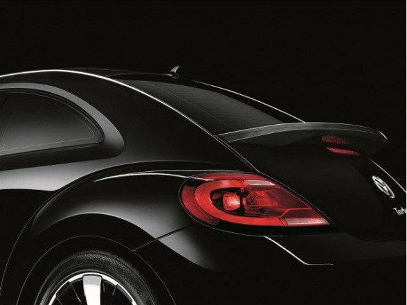 Rear roof detail of black 2012 Volkswagen Beetle Turbo