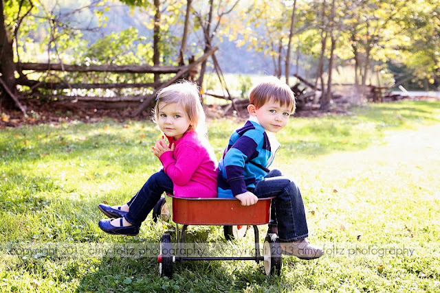 photo of twins in a wagon