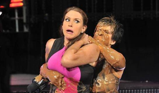 sexy Stephanie McMahon tossed in pool WWE Raw Vickie Guerrero