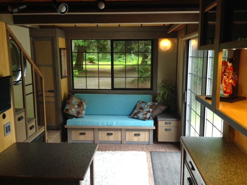 Desain Interior ruang tamu rumah minimalis & Rumah Mungil yang Mewah Solusi Bagi Lahan Sempit - Artechnolife