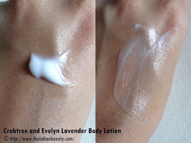 Crabtree and Evelyn Lavender Body Lotion swatch