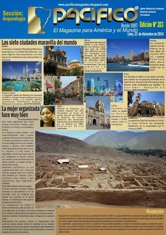 Revista Pacífico Nº 203 Arqueología
