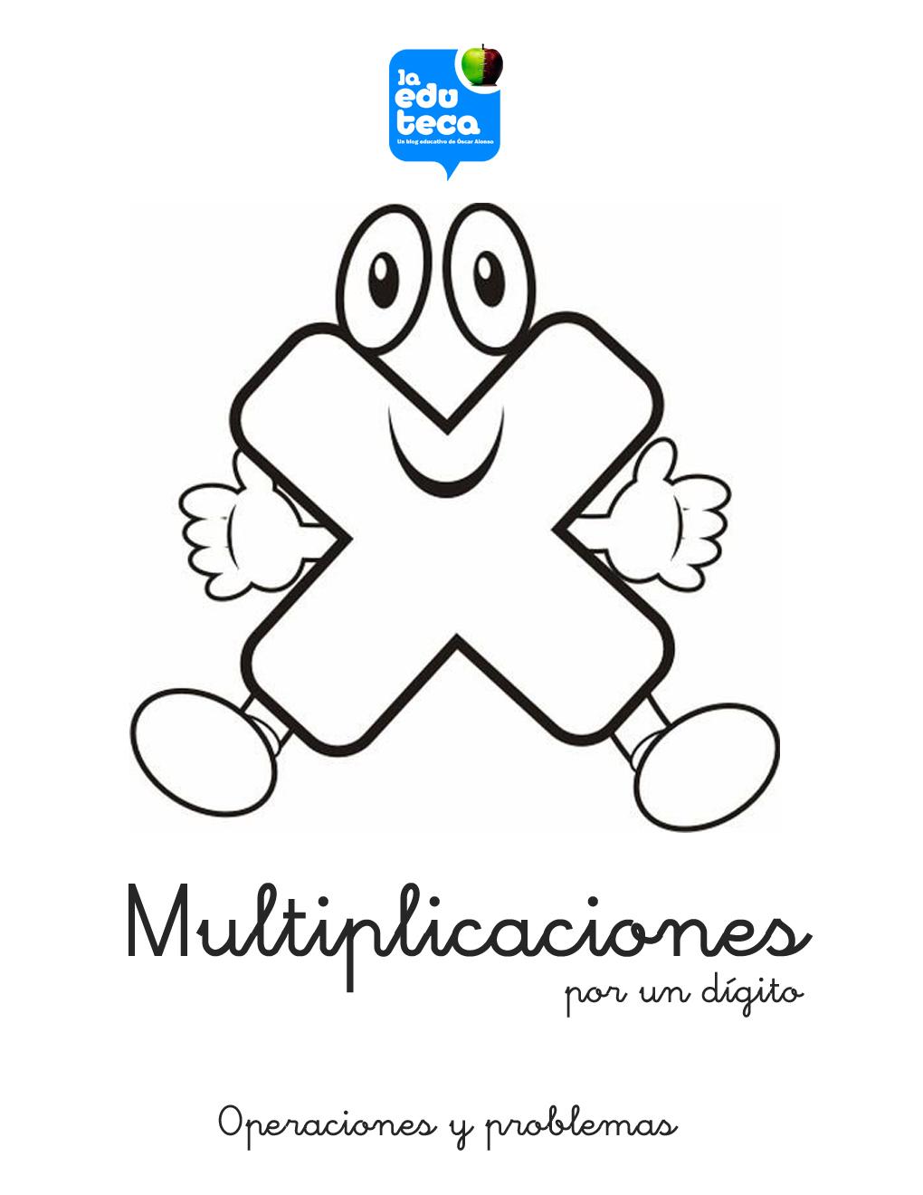 RECURSOS PRIMARIA | Cuadernillo de multiplicaciones por un dígito ...