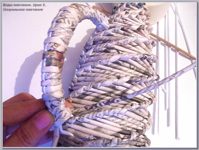 плетение ручки кувшина
