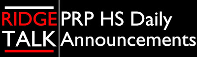 PRP HS Daily Announcements