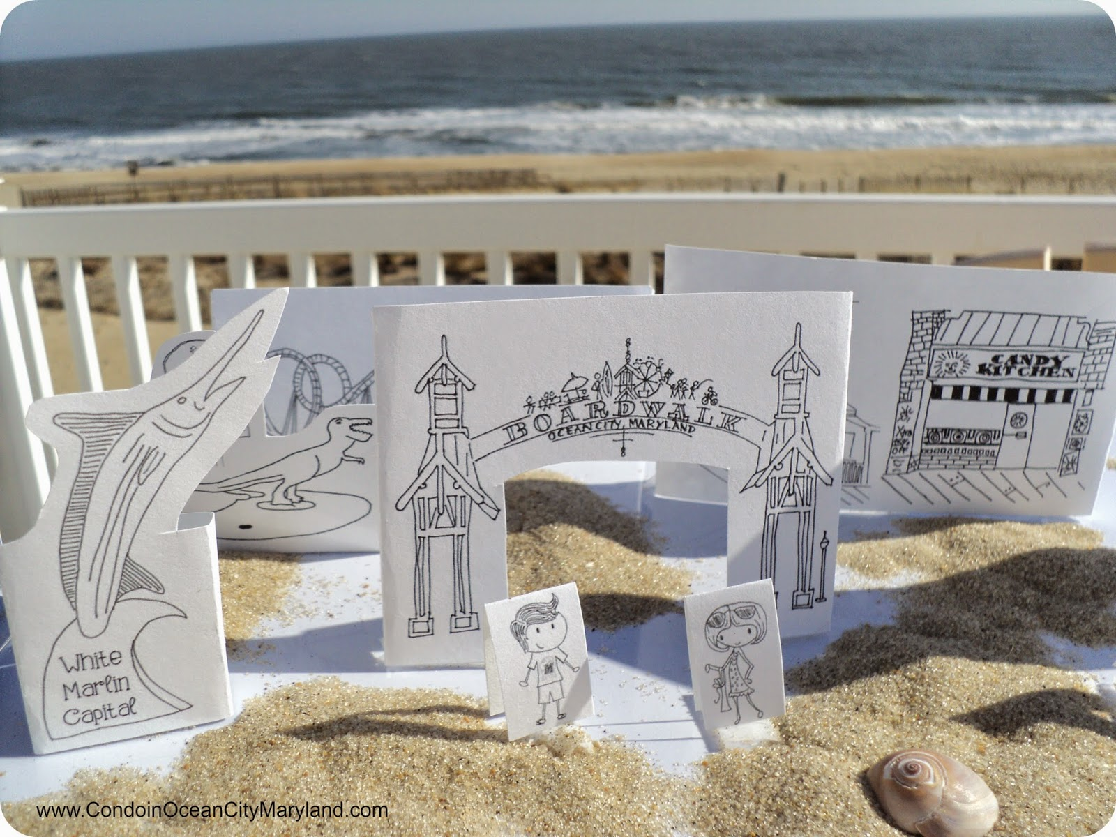 Mini Ocean City cut outs  www.condoinoceancitymaryland.com