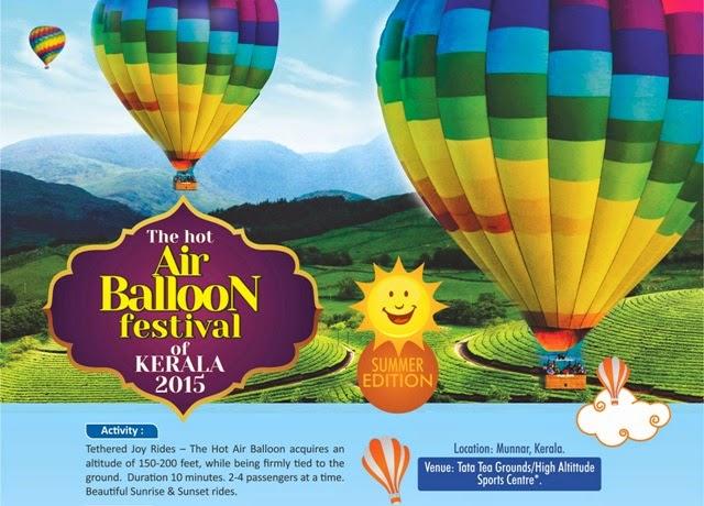Adventure Sports in munnar, ballooning in munnar, baloon festival in munnar