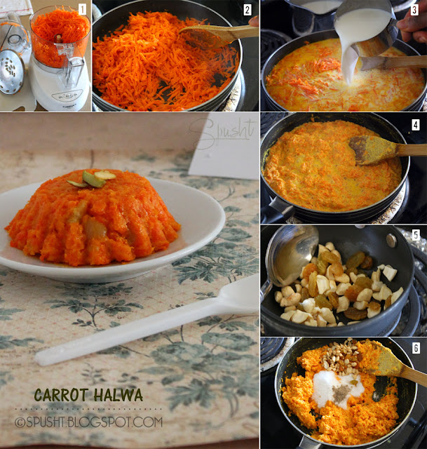Spusht | How to make Gajar ka Halwa | Recipe for Carrot Halwa