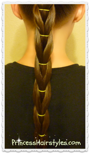 reverse pull through elastic braid