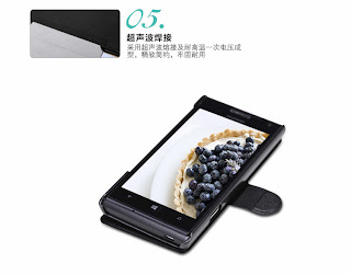 NILLKIN Fresh Series Super Thin Leather Phone Case for Huawei Ascend W1 - Black