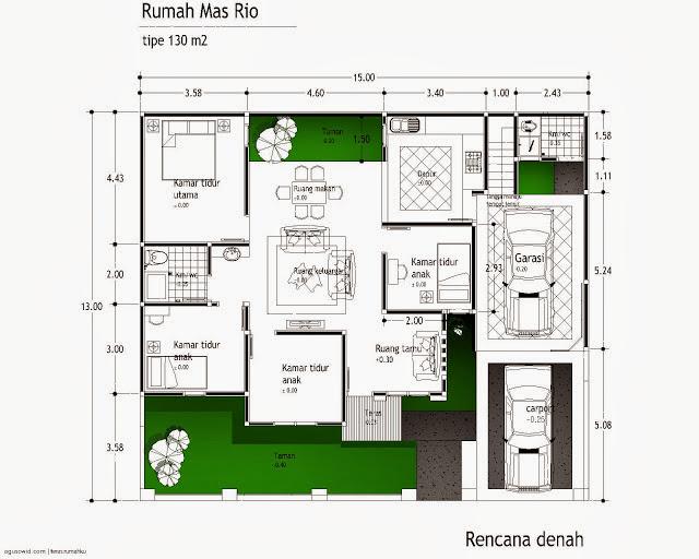 Rencana Denah Rumah Minimalis Sederhana