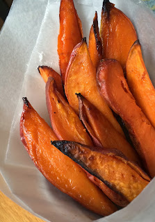 Honey Roasted Sweet Potato Fries from Top Ate on Your Plate