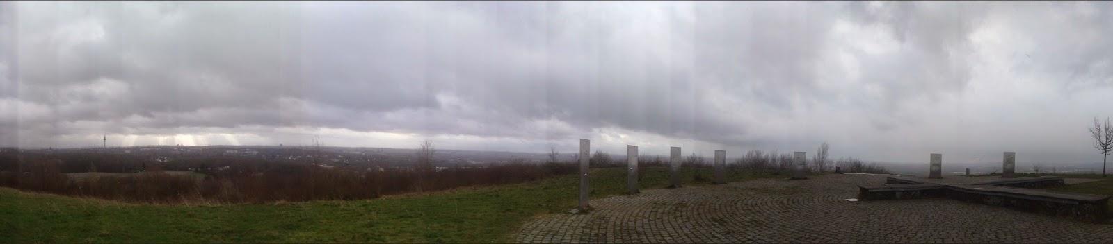 Panorama Aussicht Stelen Ruhrgebiet Ruhrpott Halde