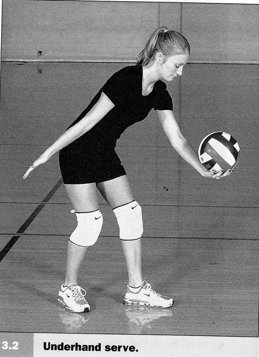 volleyball underhand serve
