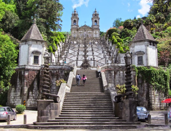 Bom Jesus, Braga, Portugal - ancient stairs design