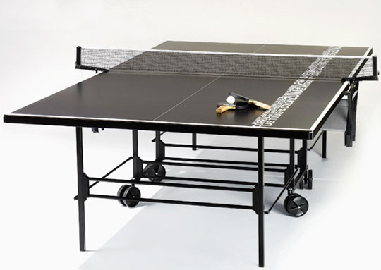 Dwellers without decorators black ping pong table so chic for Table ping pong