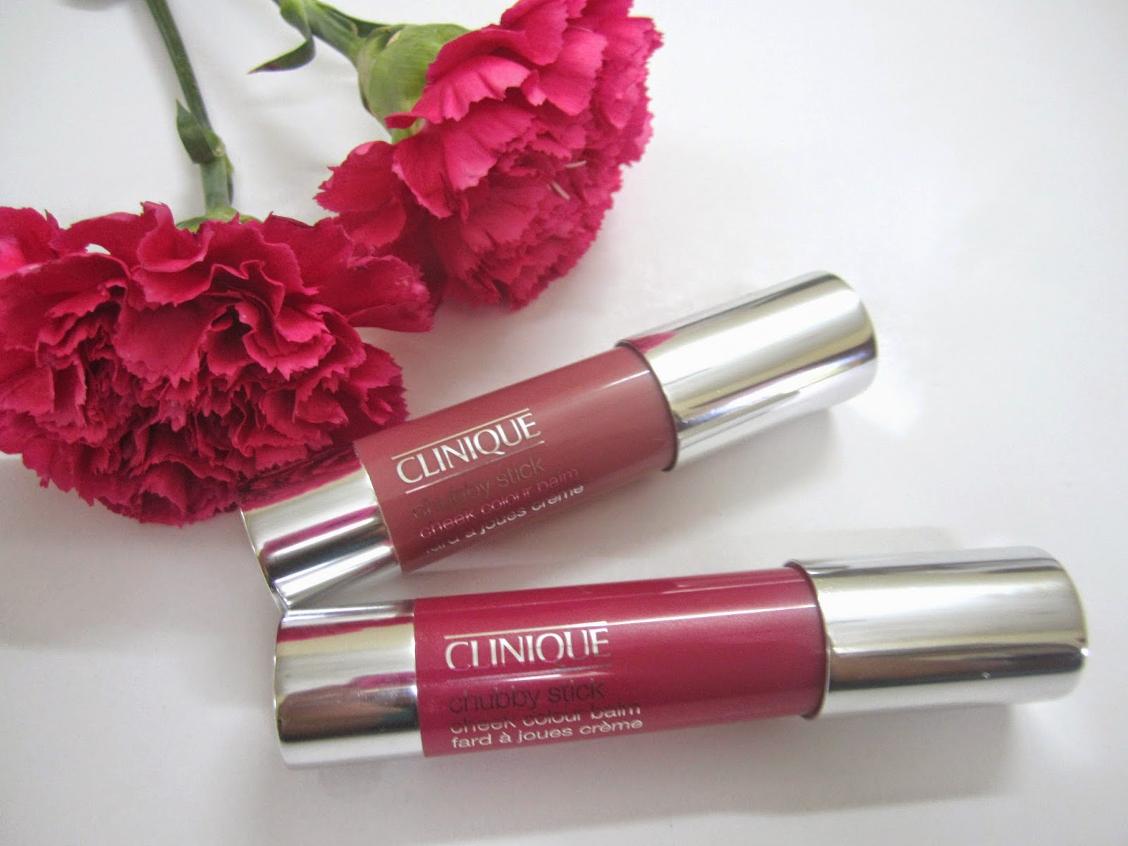 Clinique Chubby Stick Cheek Colour Balm - amp'd up apple(01) & roly poly rosy(03)