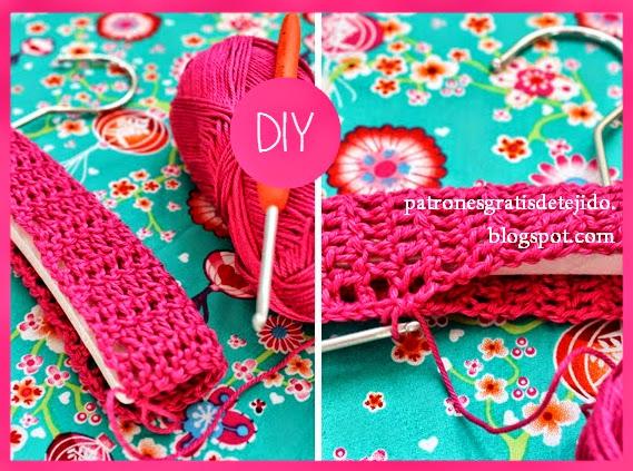 Cómo forrar perchas con tejido al crochet y flores aplicadas paso a paso