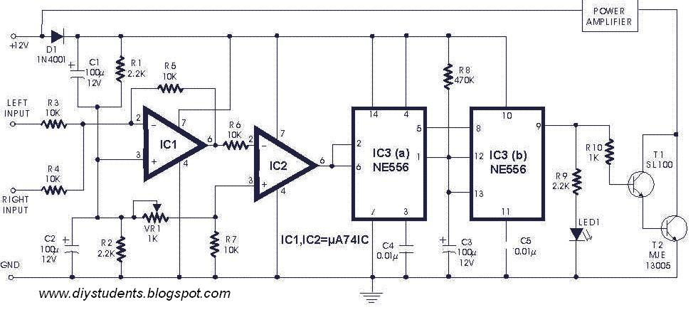 diy students  automatic switch for audio power amplifier