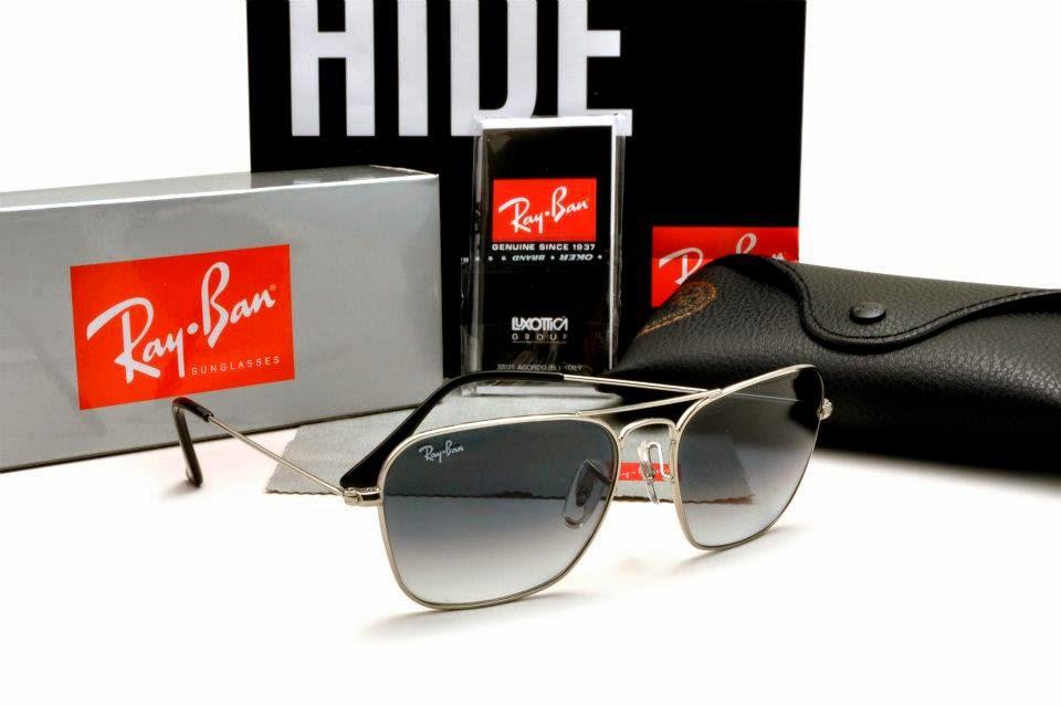 Ray Ban - Caravan RB3415 Silver Frame, Grey Gradient Lens | Caravan, Original Grade, High Quality, Sunglasses, Malaysia