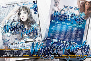 Teen Winter Party Flyer Design