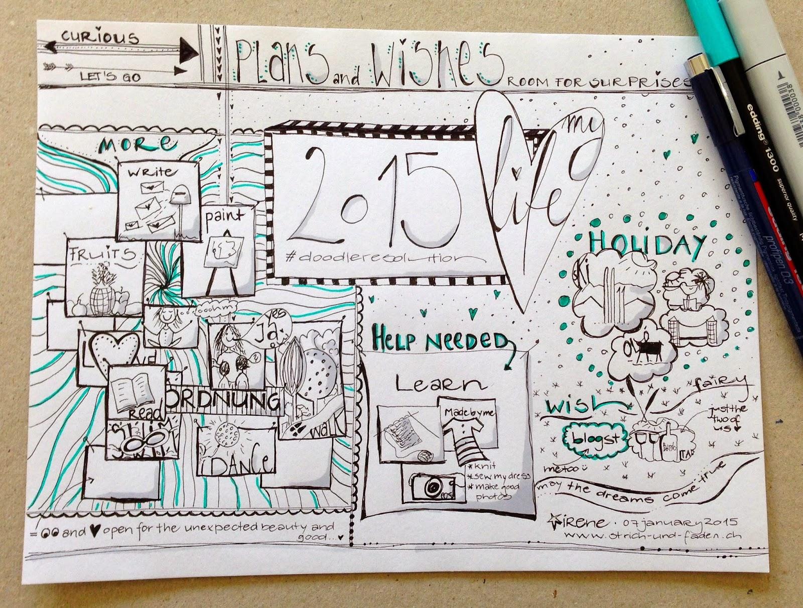mit Strich und Faden | Sketch Doodle Plans für 2015