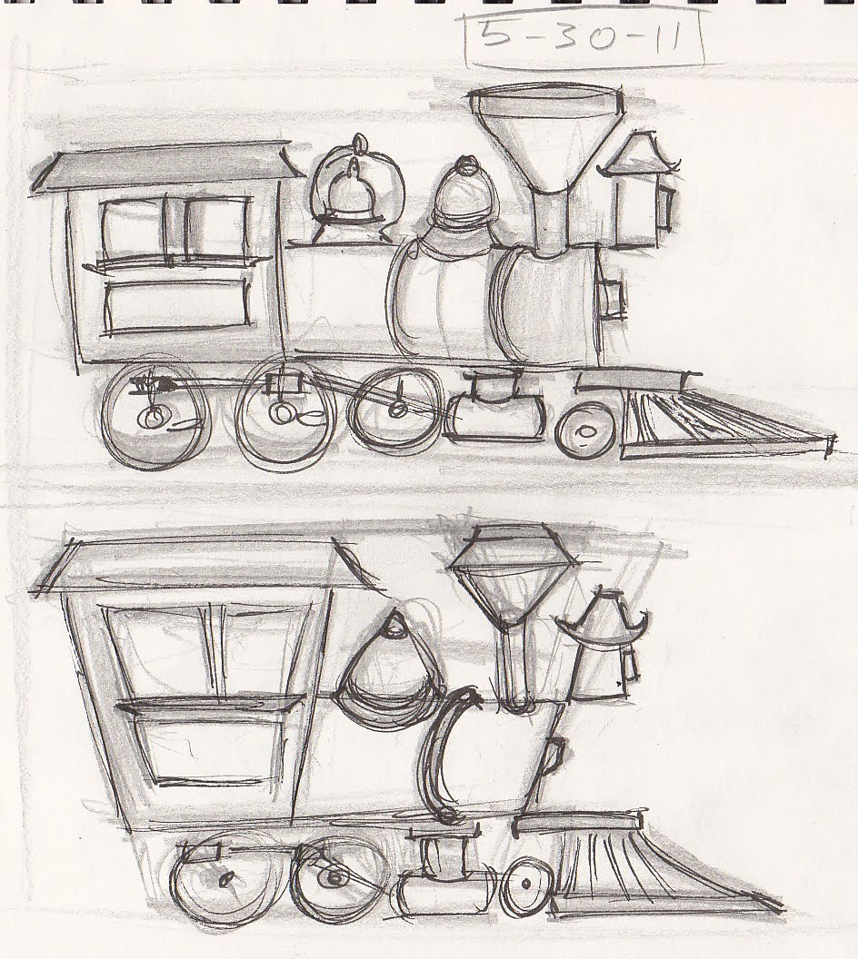Nicktorious Cartoons! Train Sketches