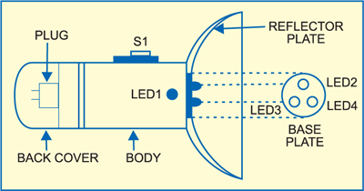 White LED Circuit Diagram