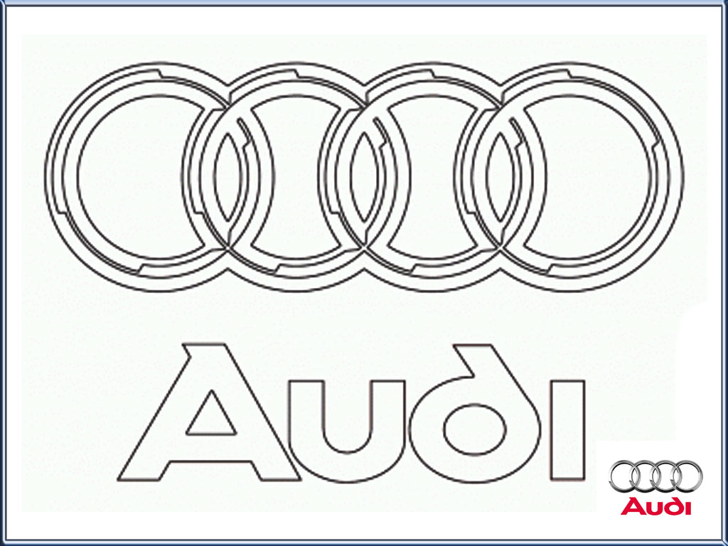 Audi Logo Coloring Pages Printable Realistic Coloring Pages