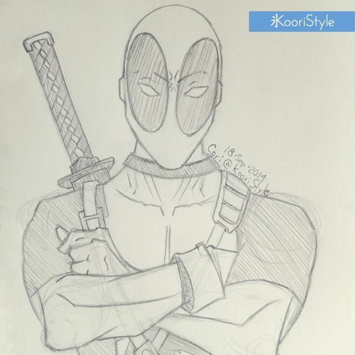 Koori Style KooriStyle Drawing Doodle Skecth Anime Comic Deadpool