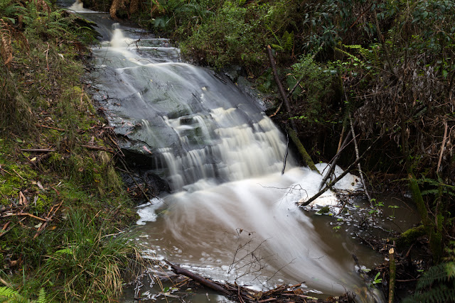 waterfall on tramline track otways