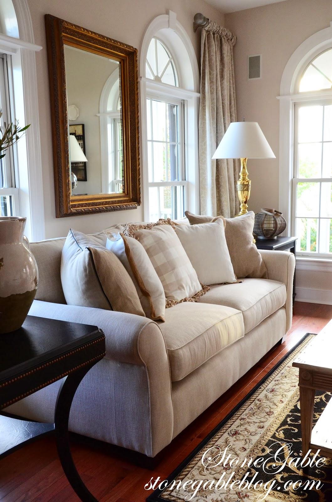 living room curtains stonegable. Black Bedroom Furniture Sets. Home Design Ideas